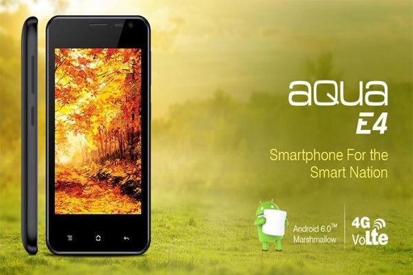4G स्मार्टफोन Aqua Power E4