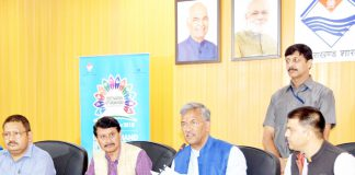 page3news-CM gives information to media regarding all preparations for Uttarakhand Investor Conference.