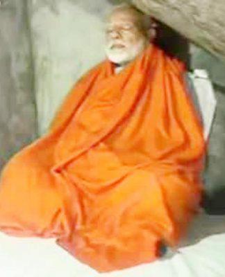 page3news-pm modi meditating at kedarnath caves